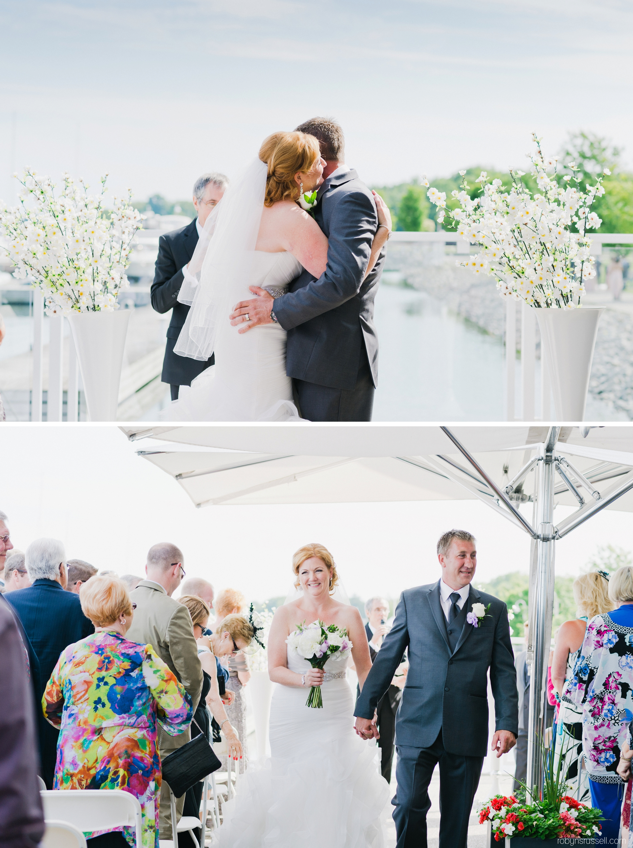 17-the-kiss-walking-down-the-aisle-oakville-wedding-photographer.jpg