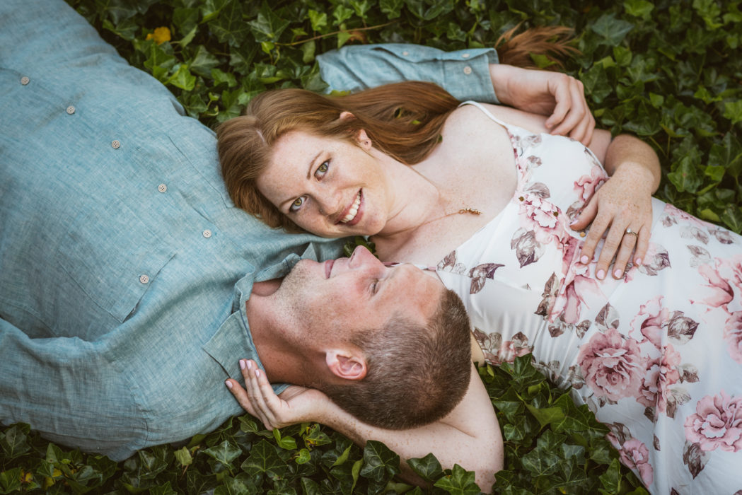 Beautiful Couples In Love Laying in Ivy